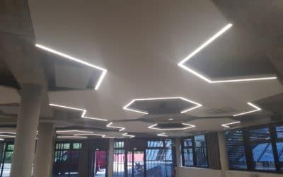 Hall VIP Palais des sports de Beaulieu, plafond décoratif acoustique